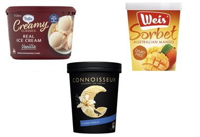 Fewer grocery buyers buy tubs of ice cream, but Weis Connoisseur and Bulla Creamy Classics are stable winners