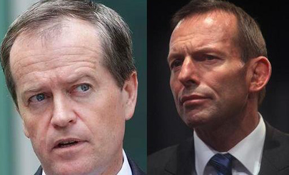 Prime Minister Tony Abbott and Opposition Leader Bill Shorten