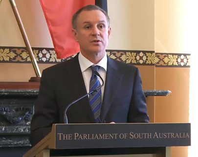 South Australian Premier Jay Weatherill weathers the electricity storm in South Australia - October 2016