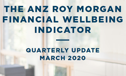 ANZ-Roy Morgan Financial Wellbeing Indicator - March 2020